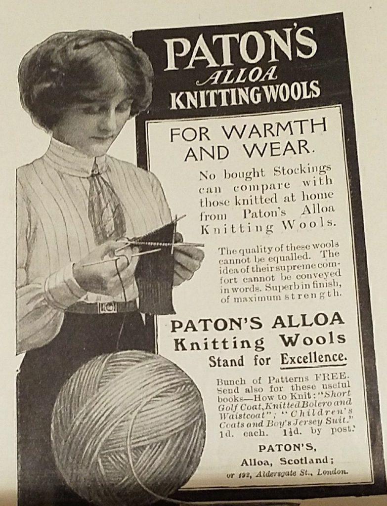 Patons Alloa vintage advert c1900s